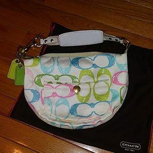 Coach Pastel Scribble Shoulder Bag